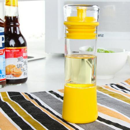 Moonmini Non-Clogging 3-in-1 Pour, Baste, Store Space Saver Cruet Silicone Olive Oil,