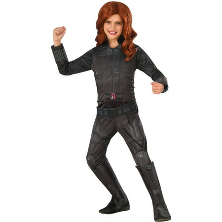 deluxe black widow child halloween costume