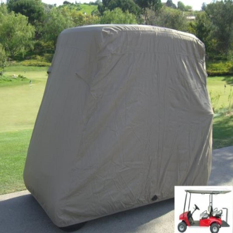 "Formosa Covers Deluxe 4 Passenger Golf Cart Cover roof 80""L Taupe, fits E Z GO, Club Car and Yamaha G... by Formosa Covers"