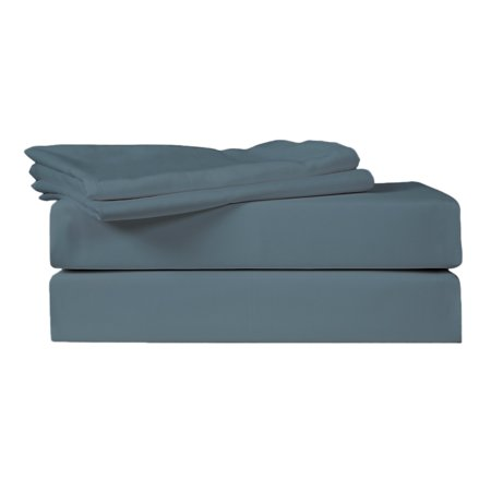 - Just Linen 400 Thread Count 100% Egyptian Quality Cotton Sateen, Solid Dark Slate Color, Pack Of 4 Queen Pillow Cases