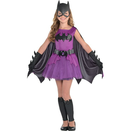Suit Yourself Purple Batgirl Halloween Costume for Girls, Batman, Includes Accessories](Walmart Halloween Costumes For Girls)