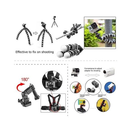 49-in-1 Accessories Kit for GoPro Hero5 Black Hero5 Session Hero 4 Hero Session Accessory Bundle Set for GoPro Hero3+ 3 2 1 SJ4000 Cam Xiaomi Skiing Cycle Hiking Outdoor Sport Accessories - image 5 of 7