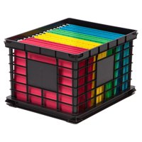 IRIS USA Letter and Legal Size File Storage Crate, Black
