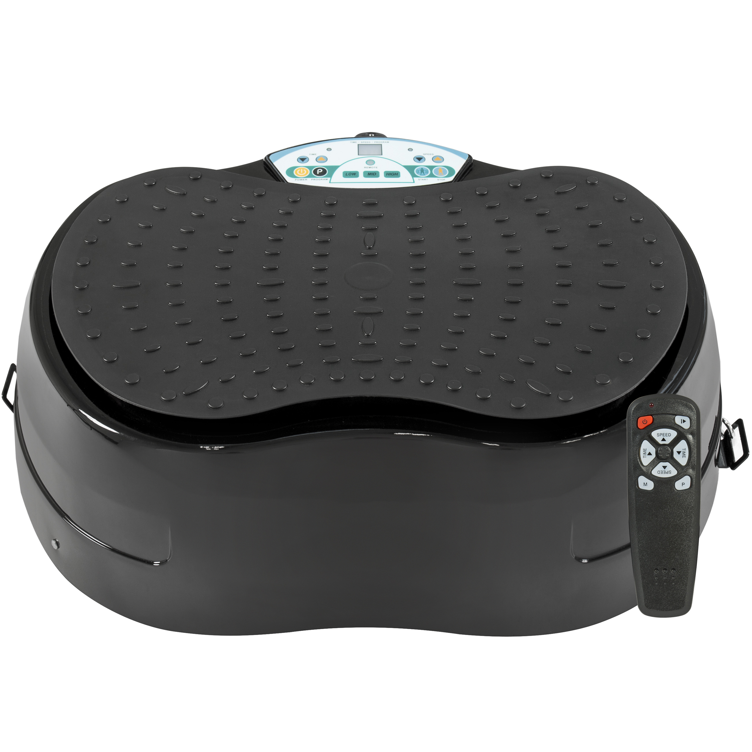 Best Choice Products 99-Level Pivotal Vibration Platform w/ Resistance Bands, Remote Control, Compact Design - Black