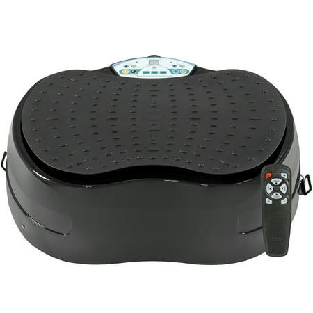 Best Choice Products 99 Level Pivotal Vibration Platform W  Resistance Bands  Remote Control  Compact Design   Black