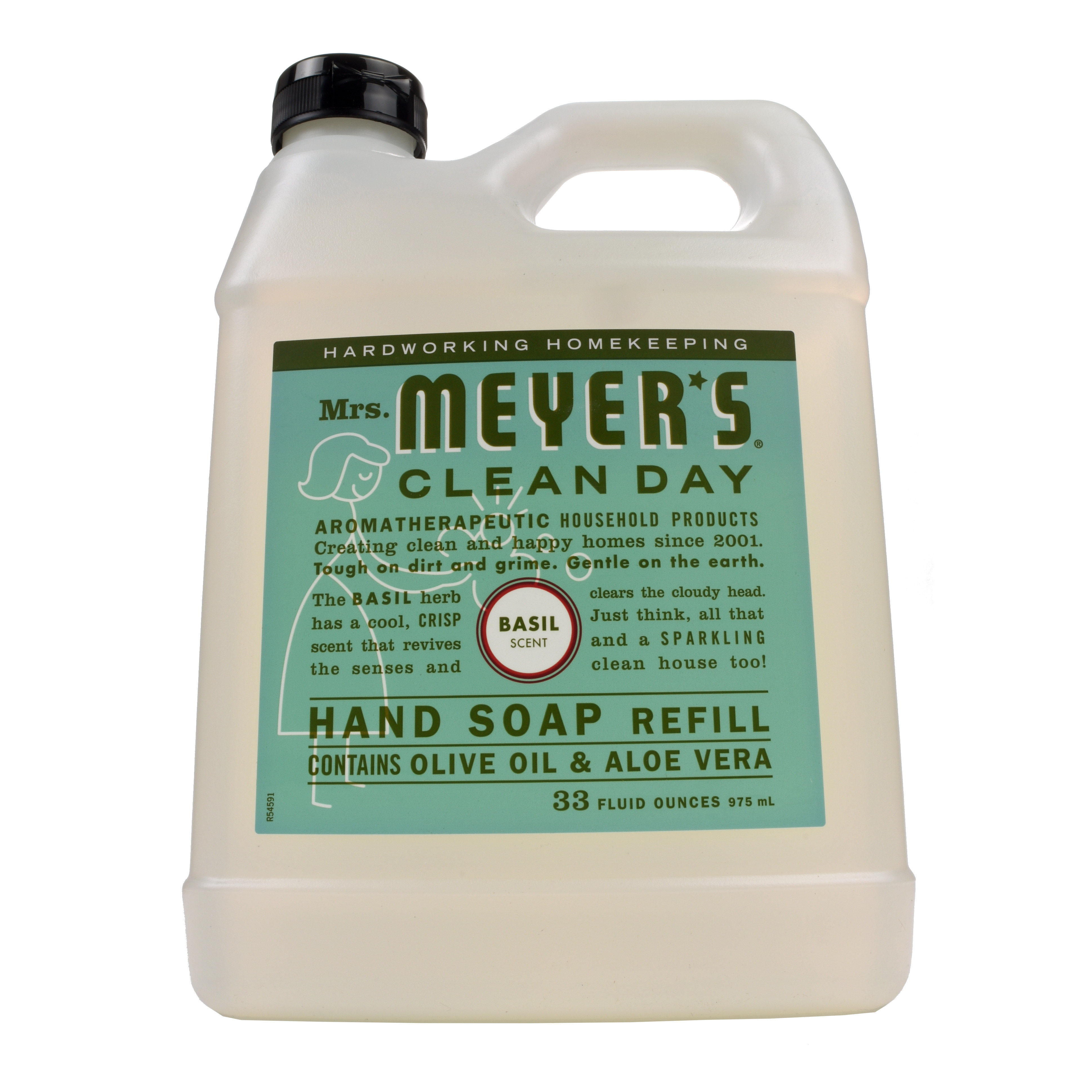 Mrs. Meyers Clean Day Hand Soap Refill, Basil Scent 33 oz