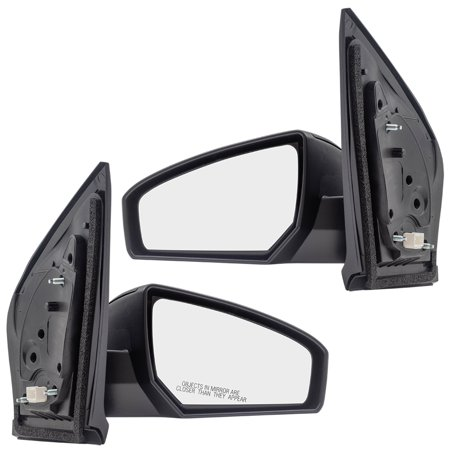 Driver and Passenger Power Side View Mirrors Ready-to-Paint Replacement for Nissan 96302ET01E 96301ET01E