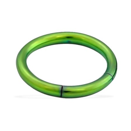 Black Titanium Segment Rings - Titanium  Anodized Segment Ring, 16 Ga,5/16