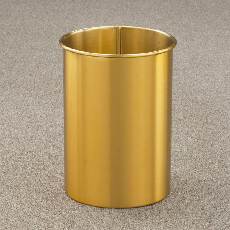 Glaro Modern Recycled Metal Tall Round Planter