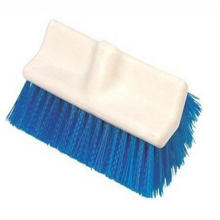 Carlisle 4042100 Plastic Block Hi-Lo Floor Scrub Brush with Squeegee, Polypropylene Bristles, 10