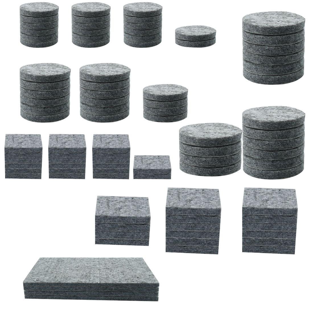 Felt Furniture Pad Self Adhesive Anti-scratch for Floor Protector Grey 86pcs - image 7 de 7