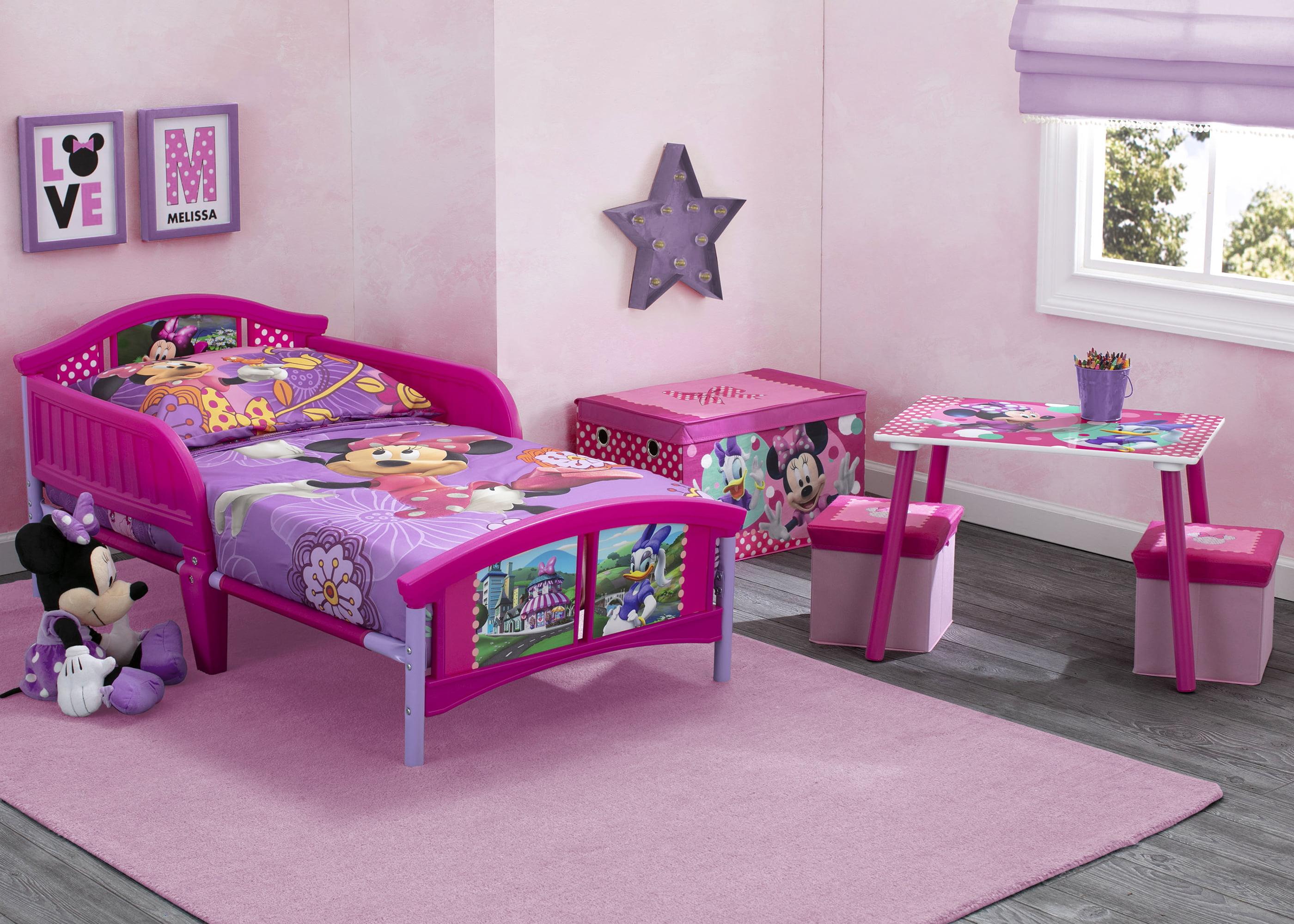 Disney Minnie Mouse 4-Piece Toddler Bed Bedroom Set with BONUS ...