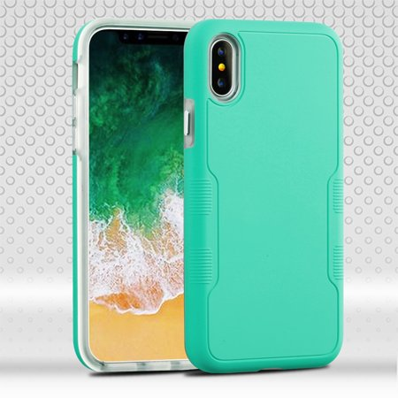 Military Grade Certified TUFF Contempo Hybrid Armor Case for iPhone XS / X - Teal Green