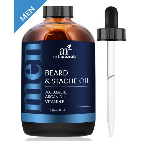 Artnaturals Organic Beard Oil And Conditioner   100  Pure And Natural Unscented   For Groomed Beard Growth  Mustache  Face And Skin   Softens Your Beard  Stops Itching And Treats Acne  2 Oz