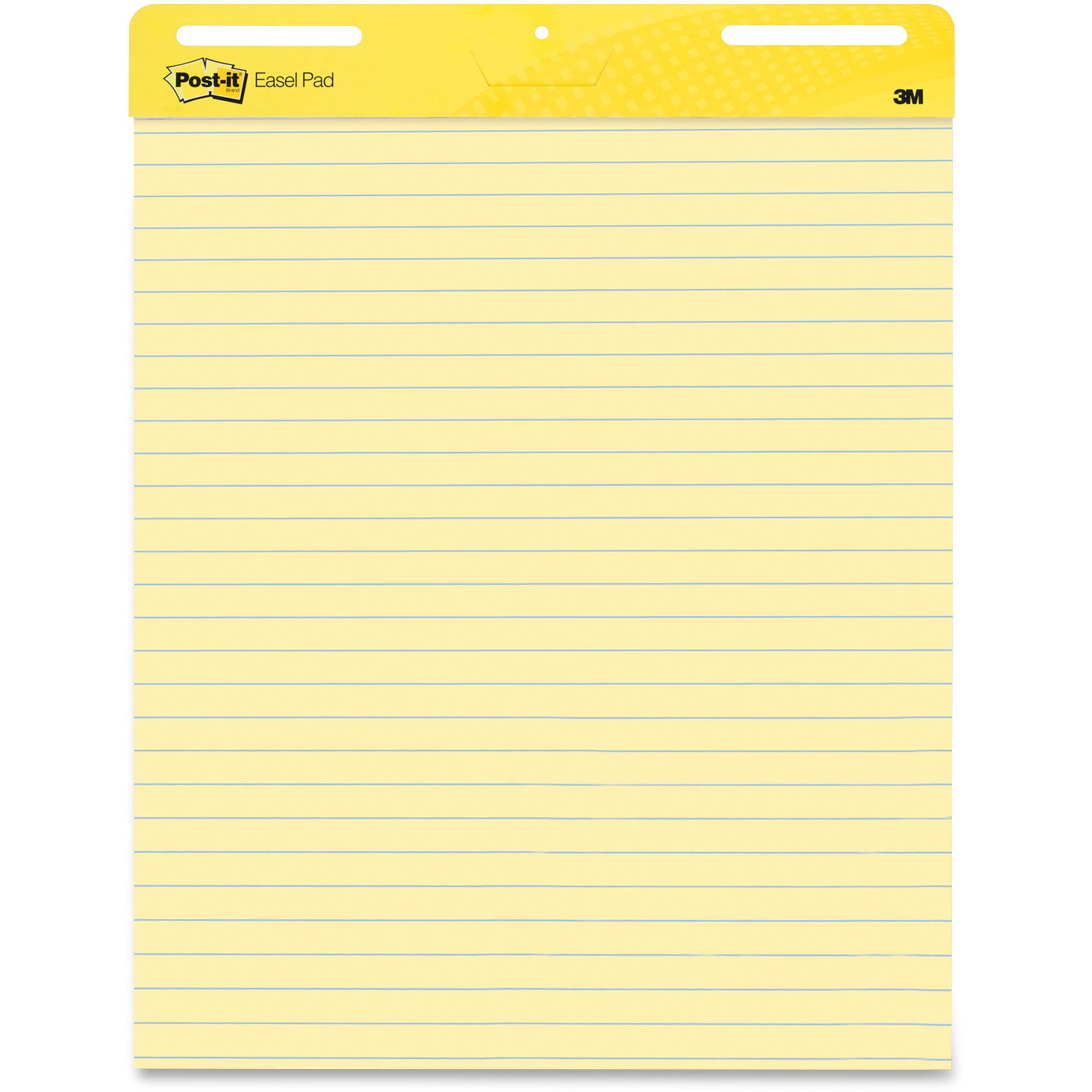 Post-it Self-Stick Easel Pads Twin Pack, Yellow, Ruled, 25 x 30-Inches, 30-Sheets/Pad, 2-Pads/Pack