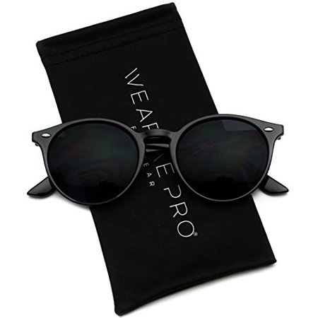 WearMe Pro - Classic Small Round Retro (Sunglasses For Small Framed Faces)