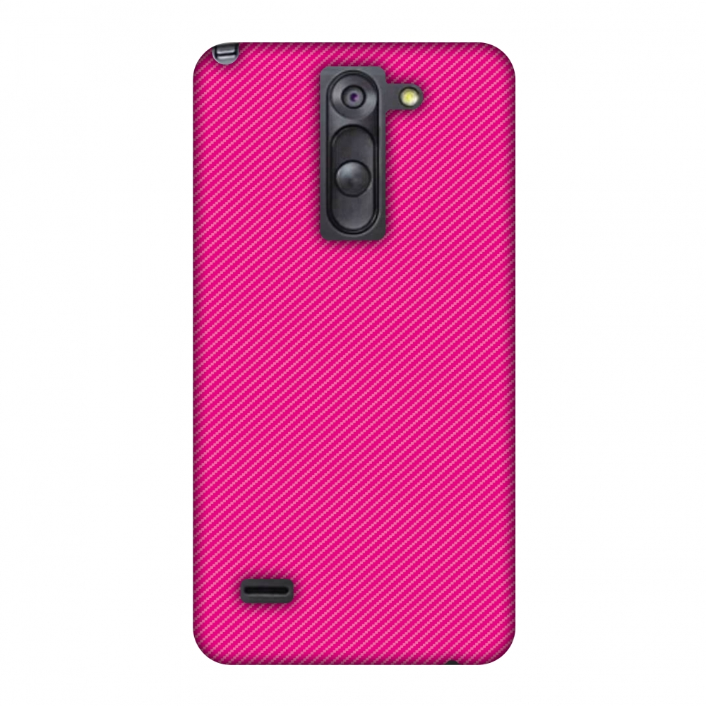 LG G3 Stylus D690 Case, Premium Handcrafted Printed Designer Hard Snap on Shell Case Back Cover with Screen Cleaning Kit for LG G3 Stylus D690 - Carbon Fibre Redux Hot Pink 13