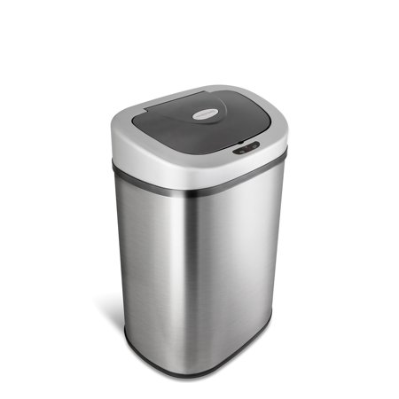 Nine Stars Motion Sensor Touchless 21.1 Gal Trash Can, Stainless Steel