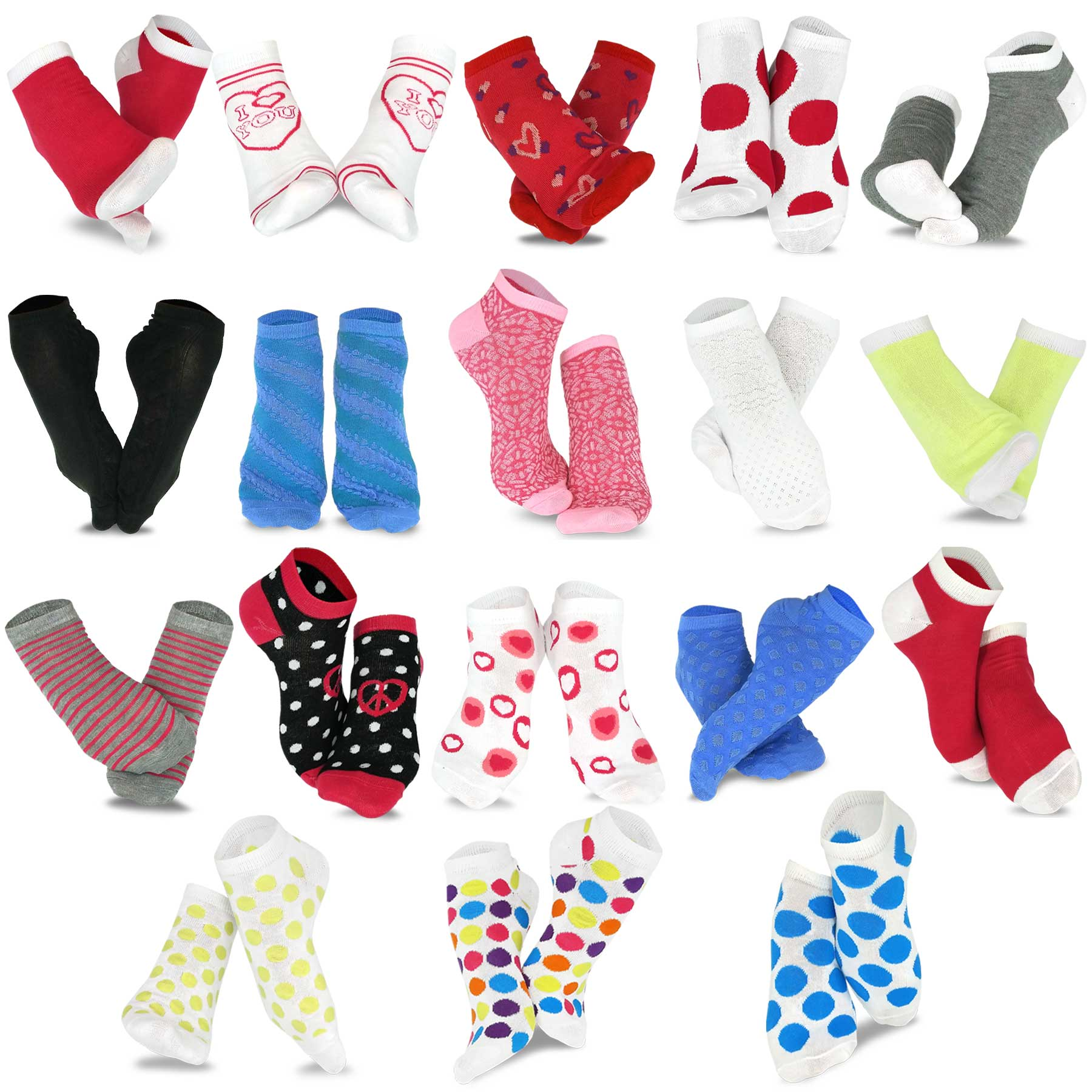 gift red heart socks clothes Red accent  short socks cute socks fashion heart socks cotton cool socks new