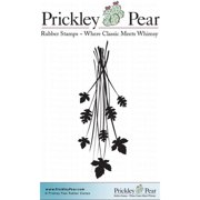 Prickley Pear Cling Stamps 2.5 Inch X 2 Inch-Leaf Spray
