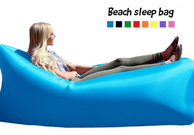 US Lounger Fast Inflating Portable Bed Lounger  Inflatable Air Sofa Beach//camp
