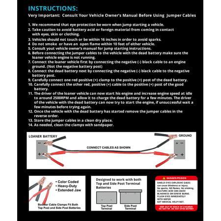 Harmony Audio Ha Jc4 High Quality 6 Gauge 16 Foot Jumper Booster
