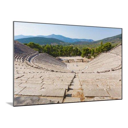 Epidaurus, Argolis, Peloponnese, Greece. The 14th century BC, 4,000 seat theatre, designed by Po... Wood Mounted Print Wall - Bc Design Wood