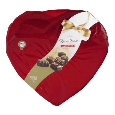 Russell Stover Valentine's Assorted Chocolates Red Foil Heart - 26oz