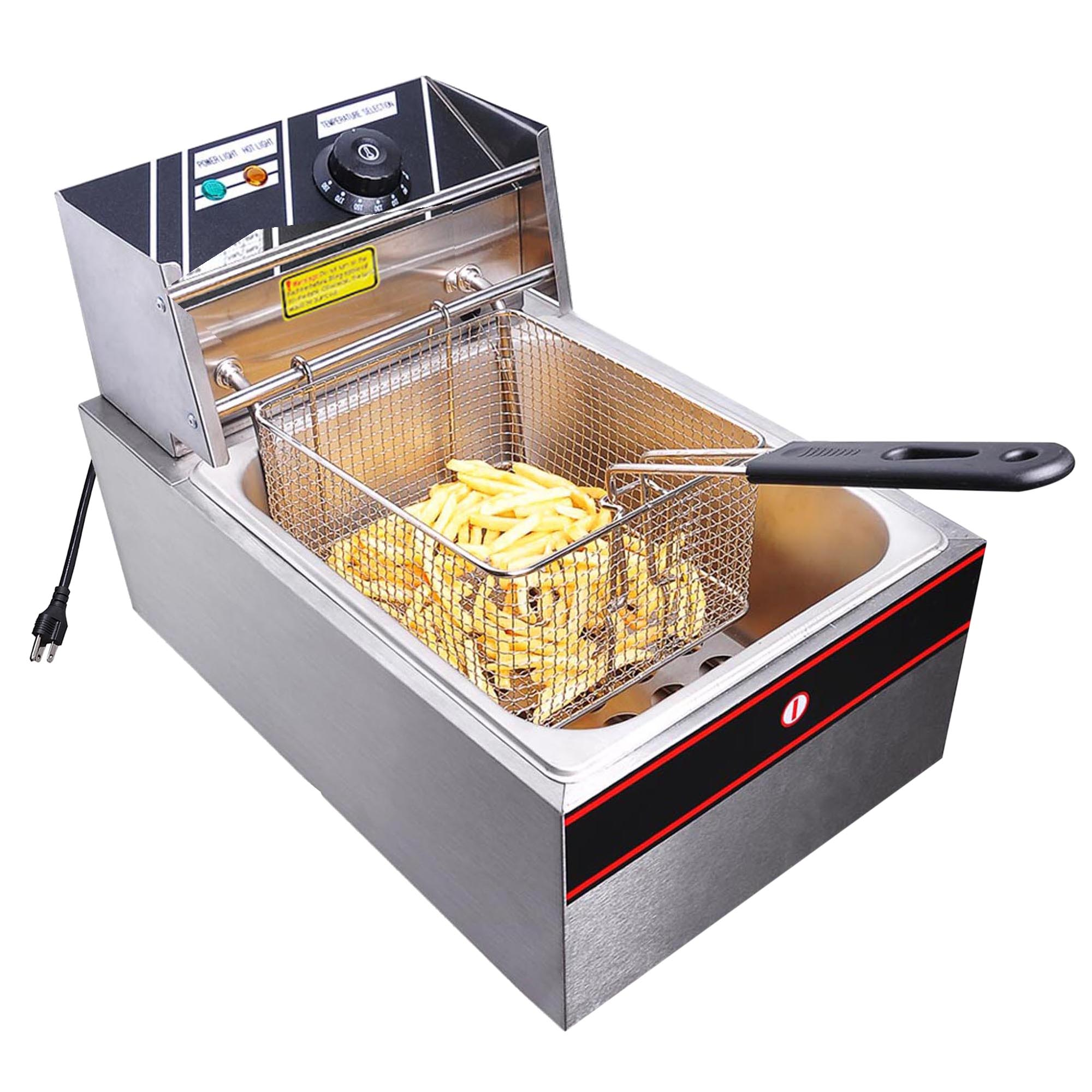 Yescom  6L 2500W Professional Commercial Electric Countertop Deep Fryer Basket French Fry Restaurant Kitchen