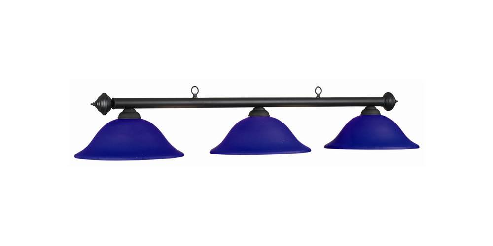 60 Inch 3 Bulb Marseilles Ceiling Lamp in Blue by RAM Gameroom Products