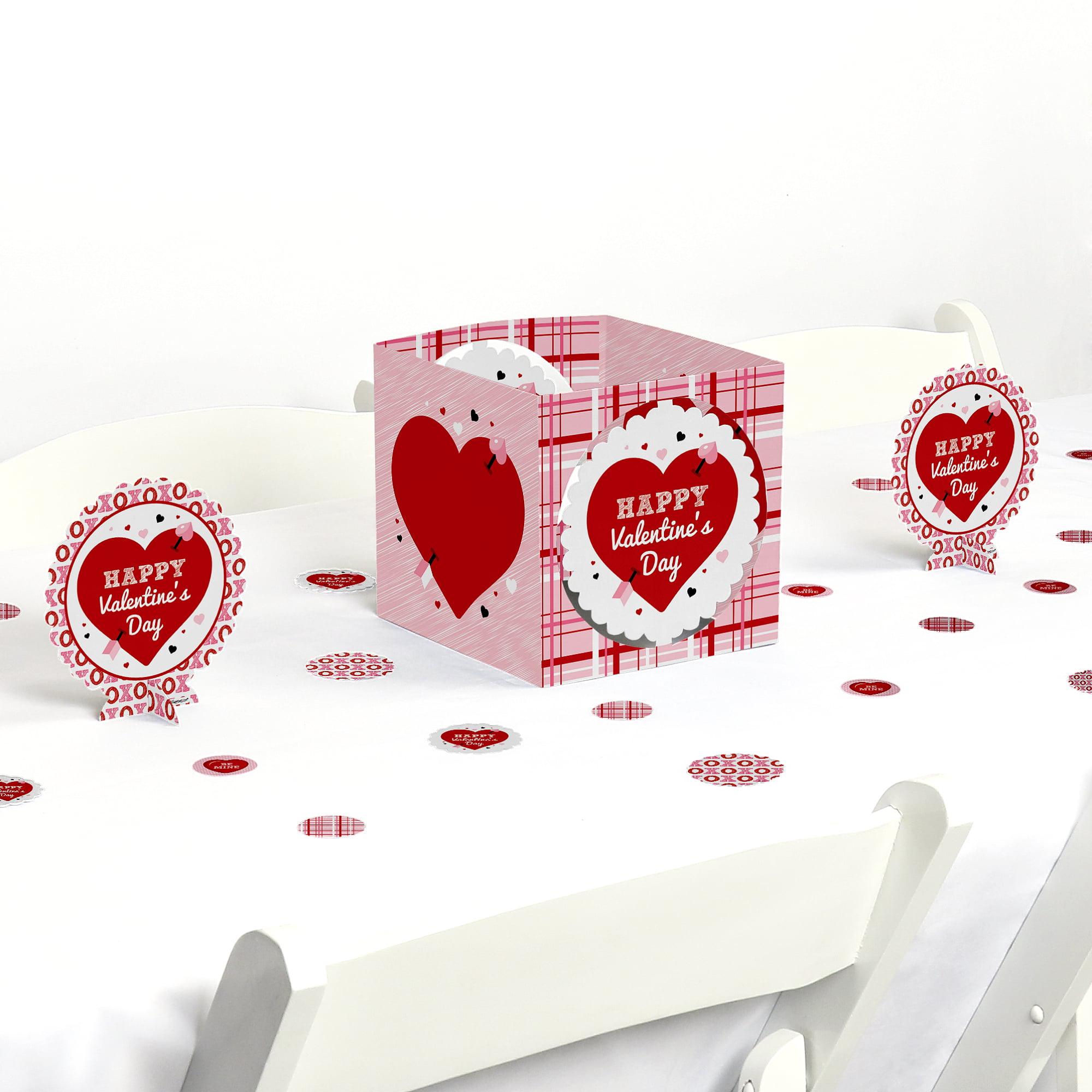 Conversation Hearts - Valentine's Day Party Centerpiece & Table Decoration Kit