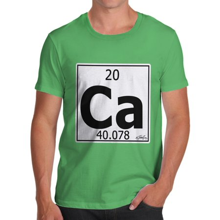Mens T Shirt Periodic Table Element Ca Calcium Funny Tshirts