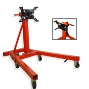 Hiltex 2000 lb Engine Stand | Folding Motor Hoist Dolly Mover Auto Repair Rebuild Jack