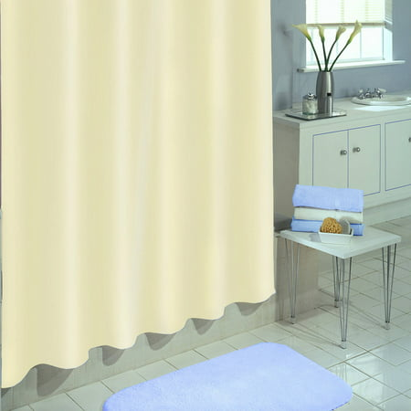 "Excell Medium-Weight 100 percent PEVA Shower Curtain Liner, 70"" x 72"", Linen"