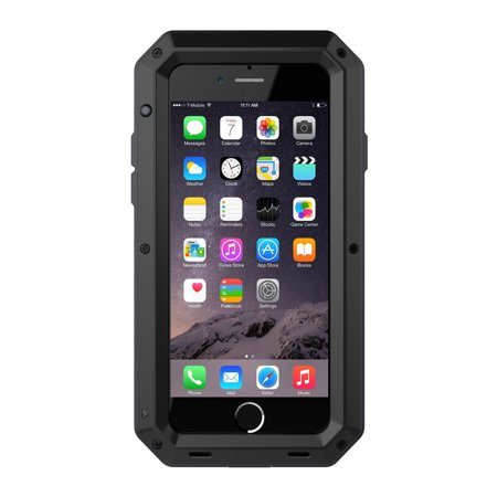 - Waterproof Shockproof Aluminum Glass Metal Protect Case Cover for Apple iPhone 7-Black