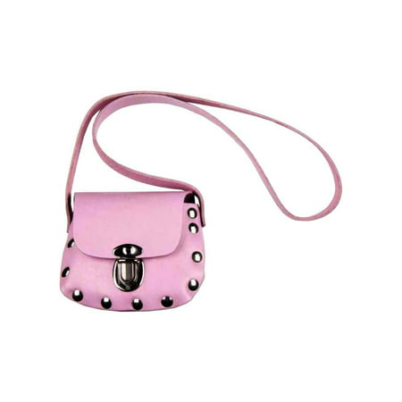 028f0f7afc Mascorro - Genuine Leather Little Girls' Studded Little Shoulder Bag Purse,  Pink PP32 - Walmart.com
