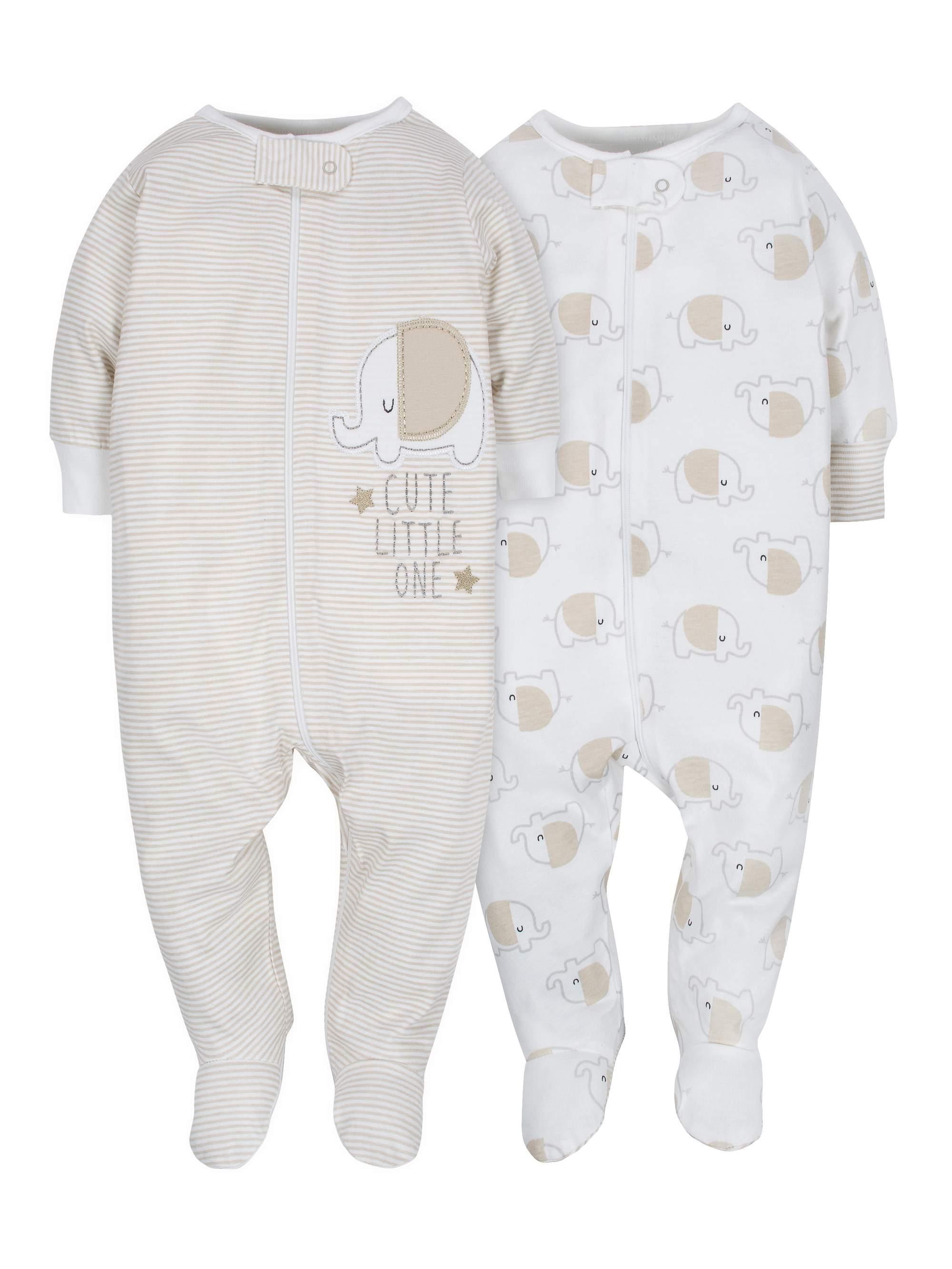 Zip Front Sleep N Play, 2pk (Baby Boy or Baby Girl Unisex)