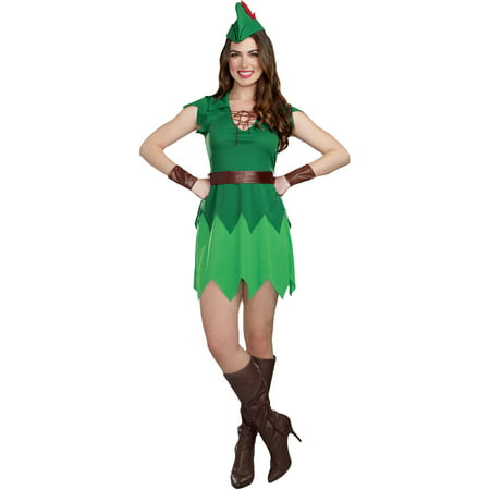 Pretty Pan Adult Women's Halloween Costume, Small