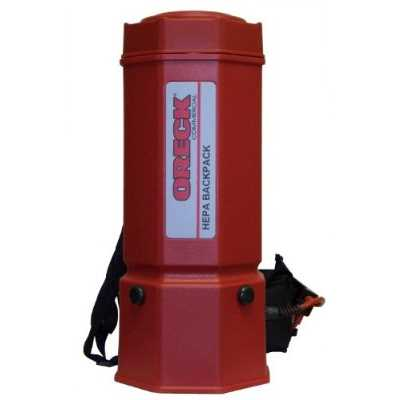 Refurbished Oreck Commercial OR1006 Premier HEPA Backpack Vacuum, 1175W, 22 Height, 6 qt Capacity, Red