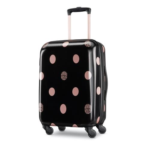 White//Orange American Tourister Nickelodeon Hardside Luggage with Spinner Wheels
