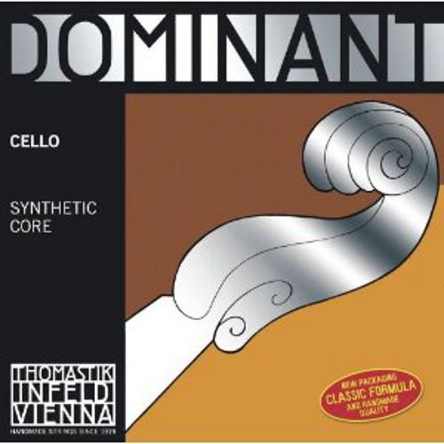 Thomastik-Infeld Dominant Nylon-Core Cello String, Chrome Wound, Medium Gauge, 4 4, D by Thomastik-Infeld