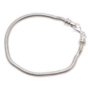 International Silver Spring Charm - Silver Polished Charm Bracelet For Most Major Charm Beads 7 Inch Screw End