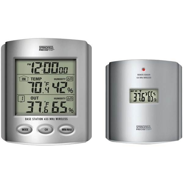 Wireless Thermometer with Indoor/Outdoor Humidity and Clock