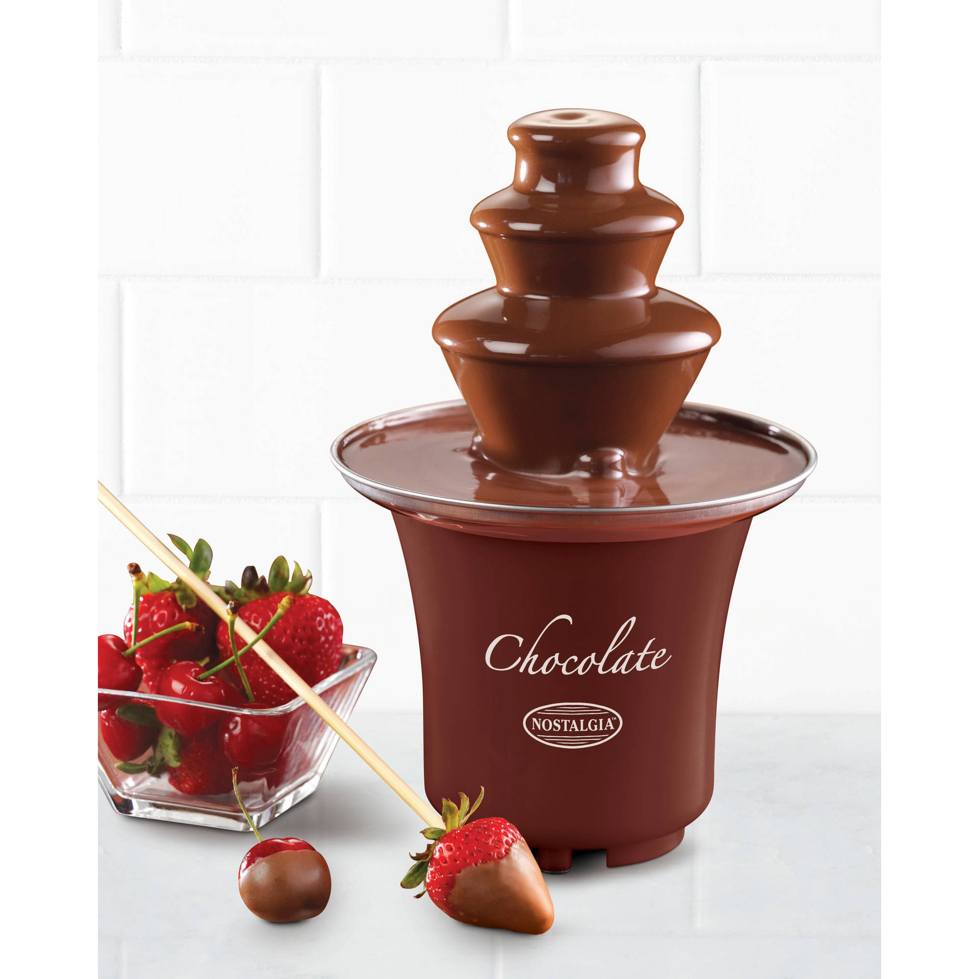 Nostalgia CFF300 3-Tier 0.5-lb Capacity Chocolate Fondue Fountain