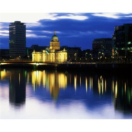 Posterazzi DPI1809850LARGE Customs House & Liberty Hall River Liffey Dublin Ireland Poster Print by The Irish Image Collection, 34 x 26 - Large - image 1 de 1