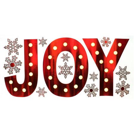 Holiday Time Christmas Decor Foil Joy Wall Art, 27.5\