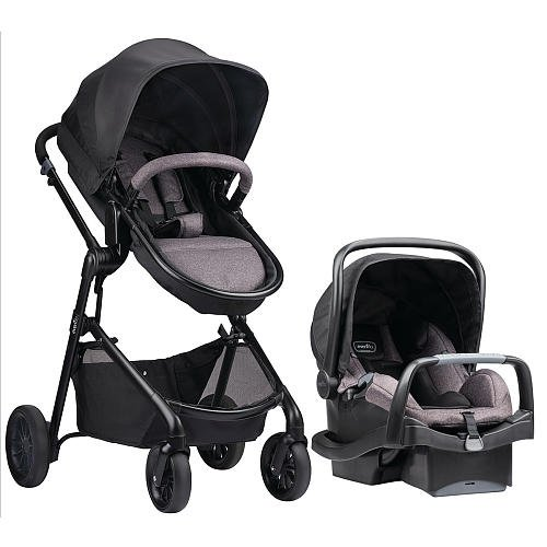 Evenflo Pivot Modular Travel System with Safemax Infant Car Seat Casual Gray by EvenfloPlatinum