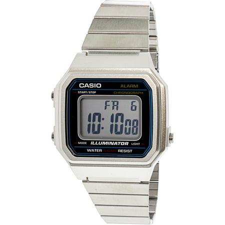 1fee43c18 Casio - Men's Classic B650WD-1A Silver Stainless-Steel Quartz Fashion Watch  - Walmart.com