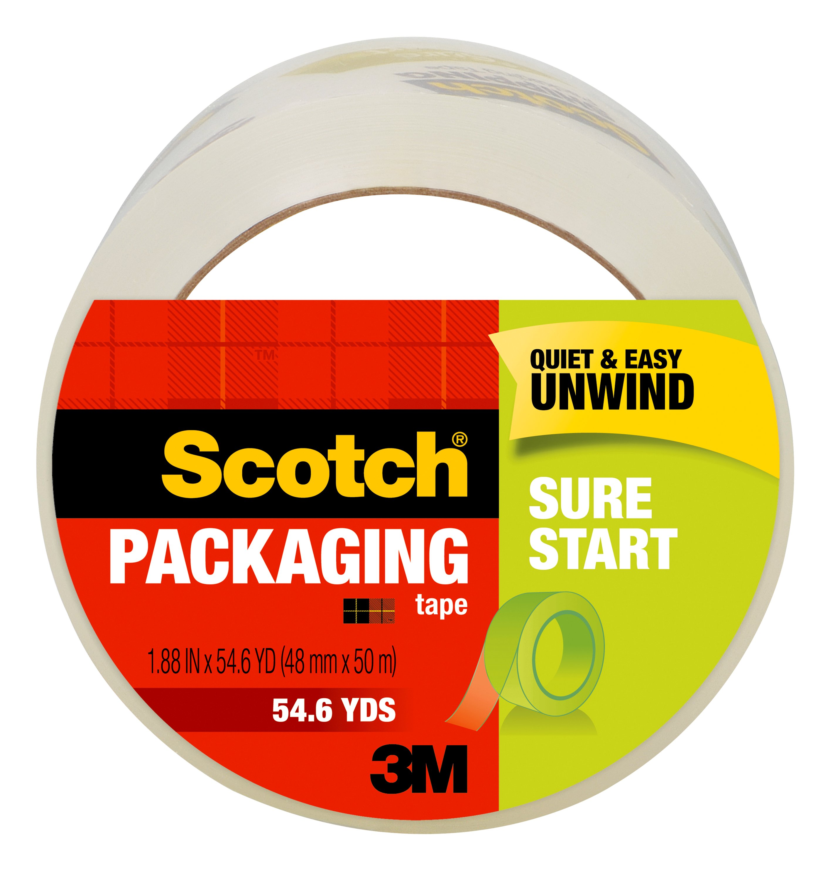 """165 ft 1 Case Cantech Brand Packing Tape Box Packaging 2.0mil 2/"""" x 55 yard"""