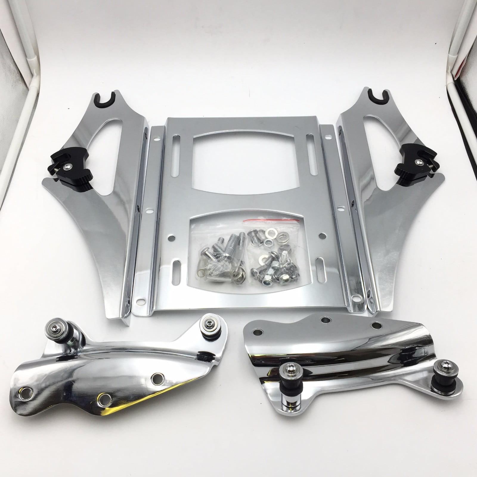 Chrome 4-Point Detachable Docking Hardware Kit for 2009-2013 Harley Davidson